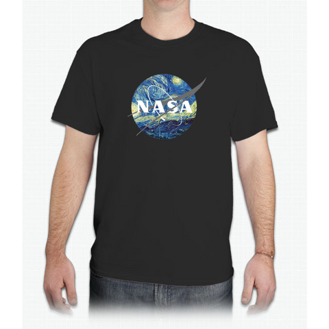 Nasa Logo Van Gogh - Mens T-Shirt