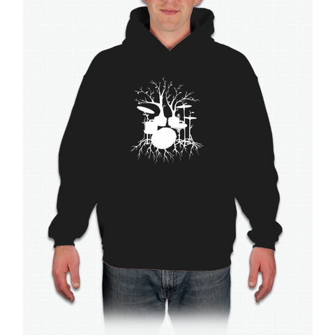 """Live the Beat to the Tempo of Creation"" ~ drum tree art , version1 Hoodie"