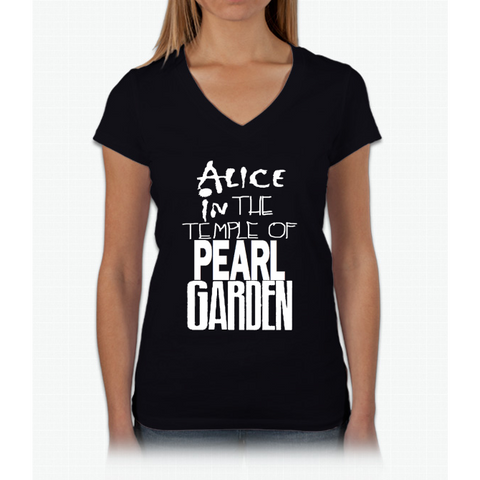 """ Alice in The Temple Of Pearl Garden"" Womens V-Neck T-Shirt"