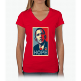 Obama Hope Womens V-Neck T-Shirt
