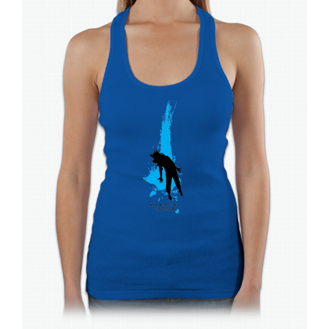 """For a minute there, I lost myself"" - Radiohead - dark Womens Tank Top"