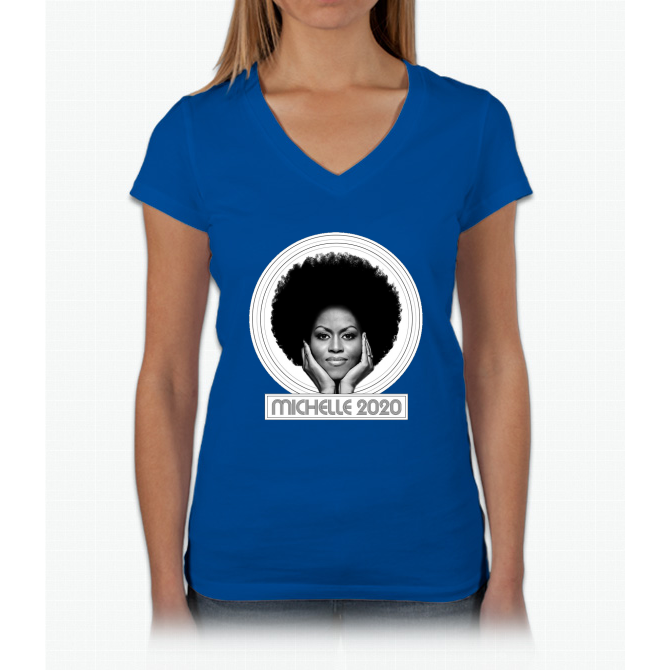 Michelle 2020 Womens V-Neck T-Shirt