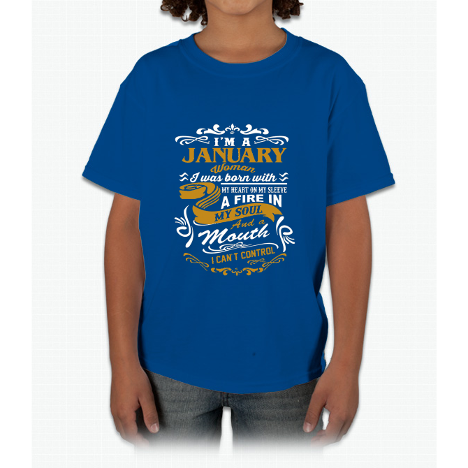 I'm A January Woman Young T-Shirt