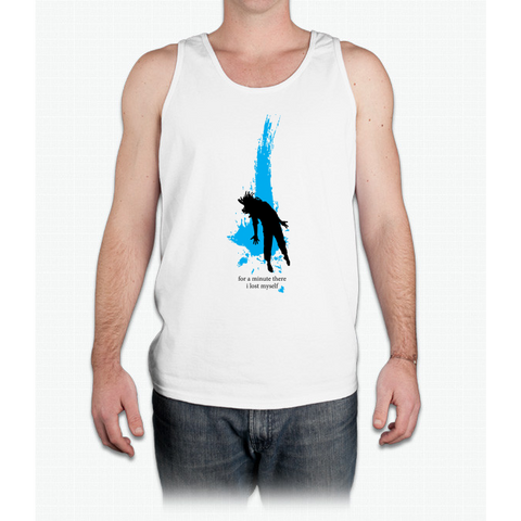 """For a minute there, I lost myself"" - Radiohead - dark - Mens Tank Top"