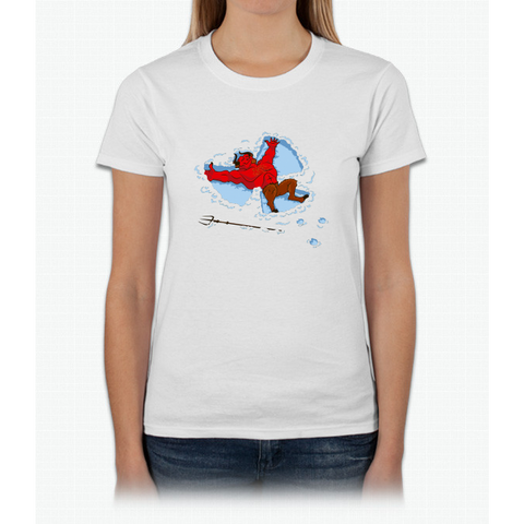 """I Wish I Were"" Snow Devil Womens T-Shirt"