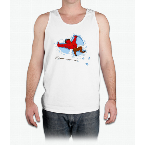 """I Wish I Were"" Snow Devil - Mens Tank Top"