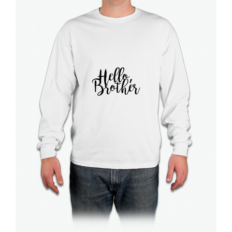 """Hello Brother"" - The Vampire Diaries Long Sleeve T-Shirt"