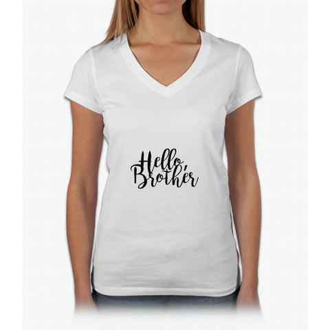 """Hello Brother"" - The Vampire Diaries Womens V-Neck T-Shirt"