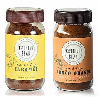 Caramel and Choco Orange Instant Coffee Combo Country Bean 60g x 2 (60 cups)