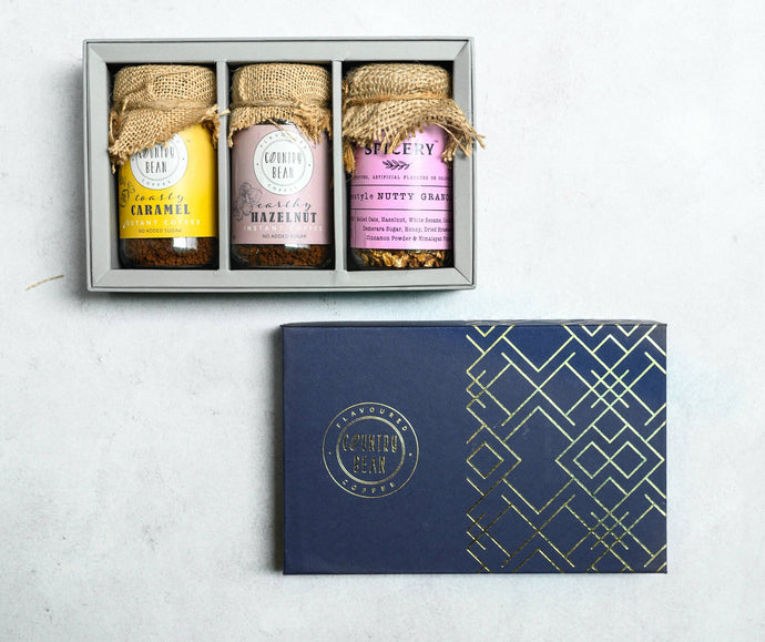 Lexington Gift Box - 2 Assorted Coffees & Granola/Trail Mix Gift box Country Bean 2 Coffees + 1 Granola