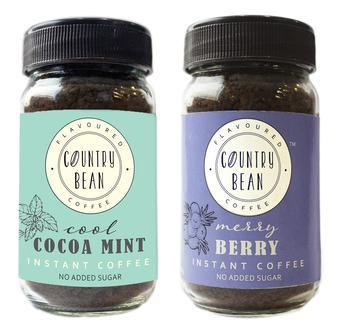 Cocoa Mint and Berry Instant Coffee Combo Country Bean 60g x 2 (60 cups)