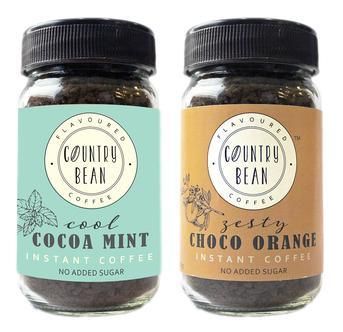 Cocoa Mint and Choco Orange Instant Coffee Combo Country Bean 60g x 2 (60 cups)