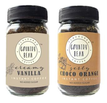 Vanilla and Choco Orange Instant Coffee Combo Country Bean 60g x 2 (60 cups)