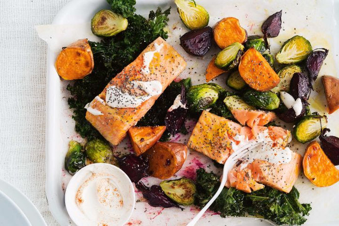 Roasted Salmon and Veggies Superfood