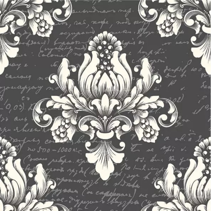 Baroque Grey Paper Napkin