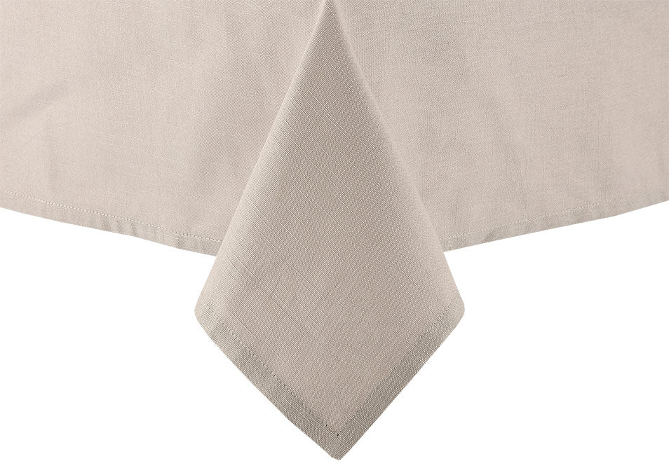 Taupe Linen Tablecloth