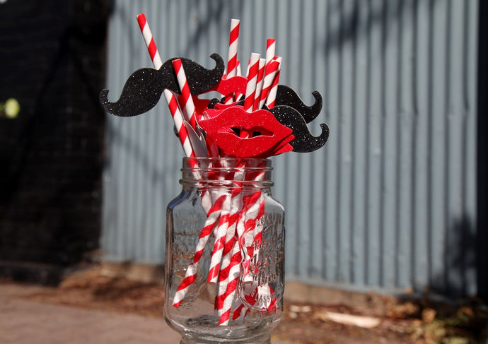 Lips Paper Drinking Straws
