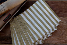 Elegance Gold Stripes Embossed Paper Napkins