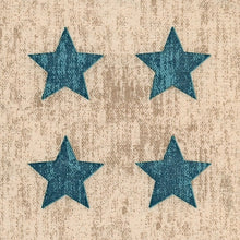 Beige/Blue Stars Paper Napkins - Cocktail