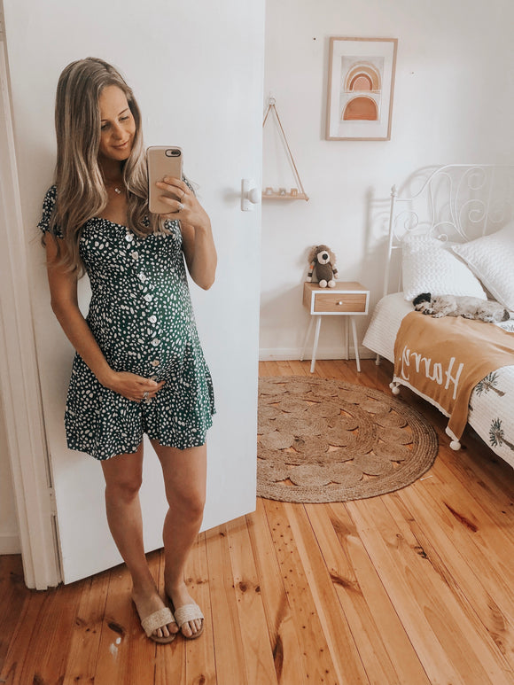 Mon Amie Dress - Emerald Spot
