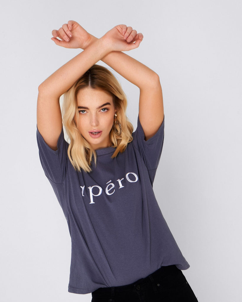 Apéro Embroidered Tee - Navy