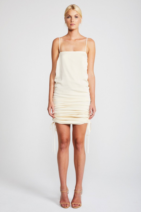 Solar Ruched Slip Dress