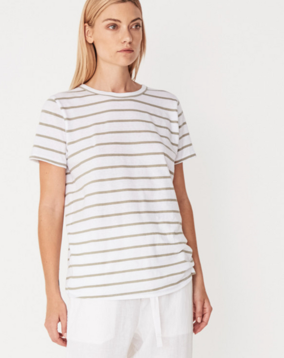 Sage Stripe Everyday Tee