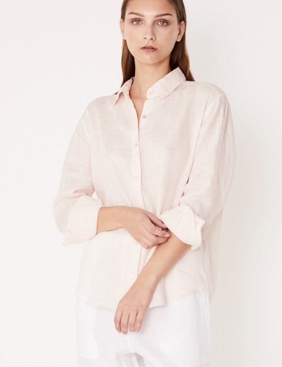 Xander Long Sleeve Shirt Pale Pink
