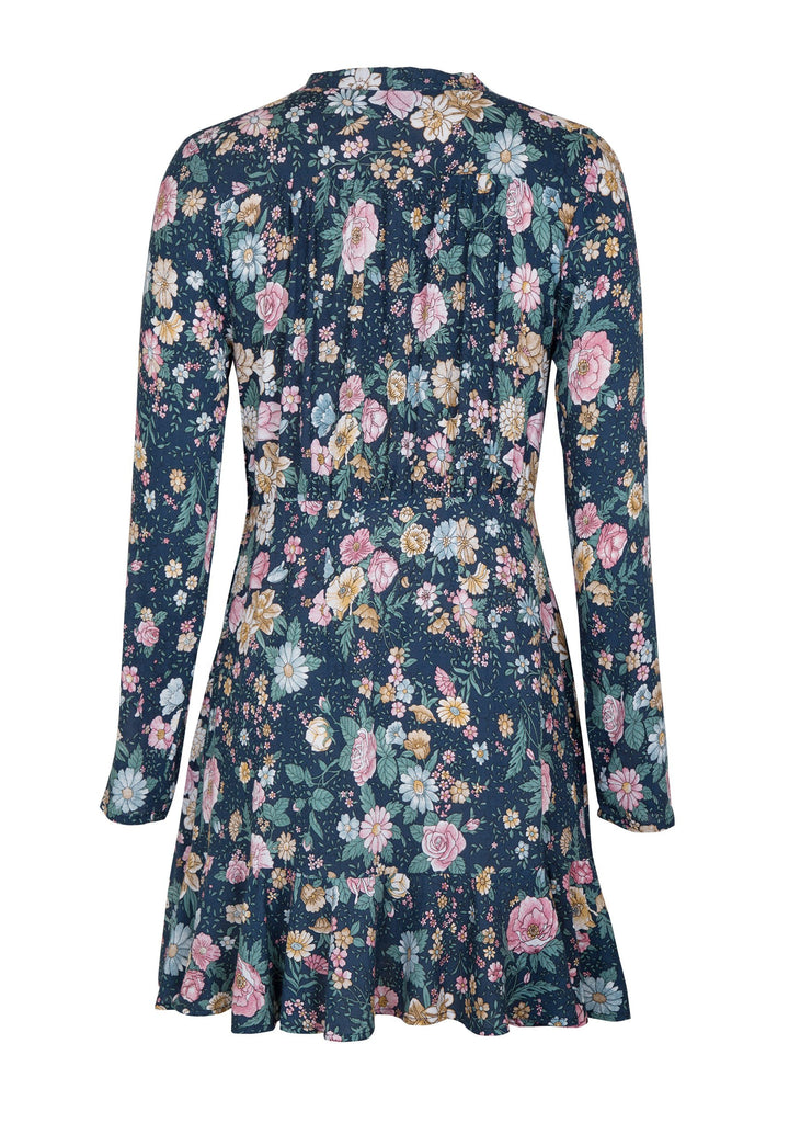 Spring Rose Wylde Long Sleeve Mini Dress