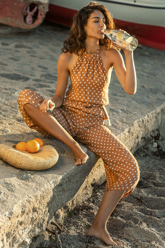 Julia Jumpsuit Rust Spot