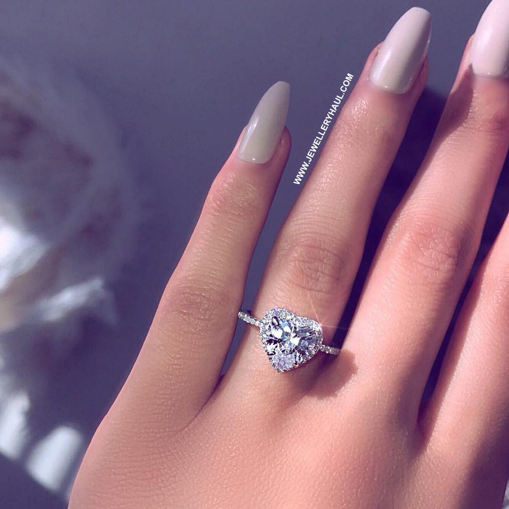 HOT) Heart Shape Diamond Crystal Ring | Jewellery Haul
