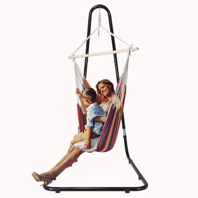 Swing Stand With FREE Rainbow Hammock
