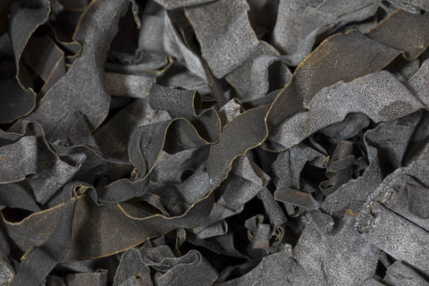 Dry ribbons of kombu kelp