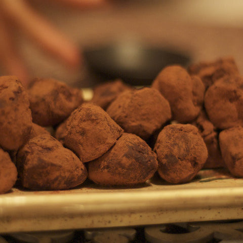 chocolate, whisky and seaweed truffles