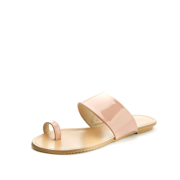 Patent Toe Ring Sandals