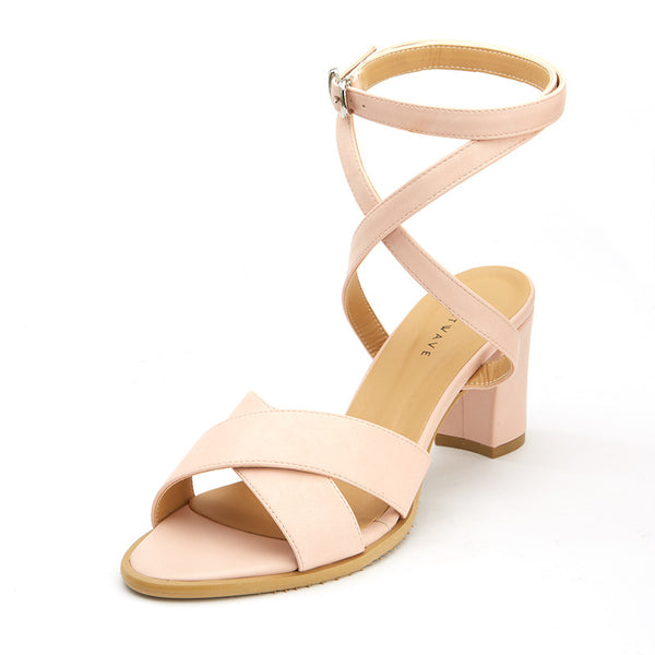 Anya Cross-Strap Sandals