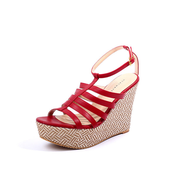 Strappy Weaved Wedges