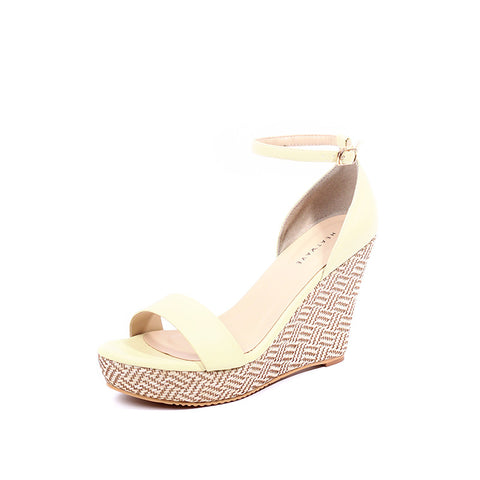 Ankle Strap Weaved Wedges