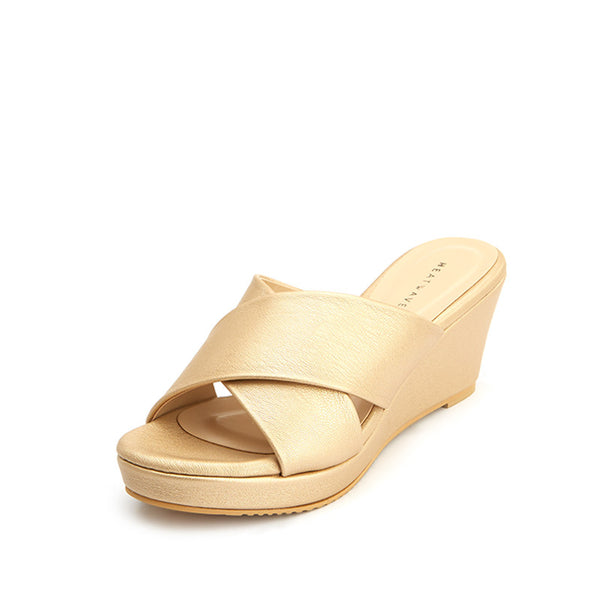 Diana Wide Strap Wedges