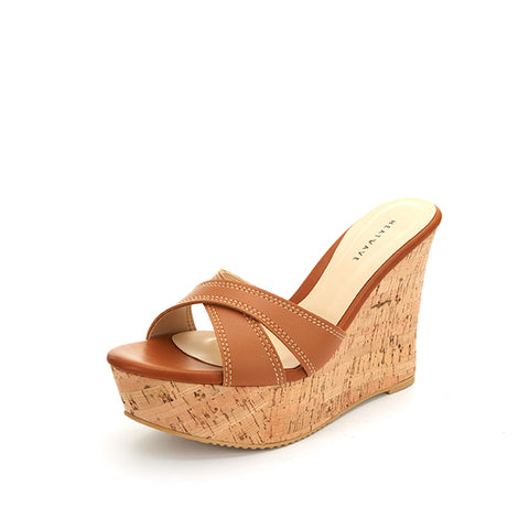 Carine Cross Strap Wedges