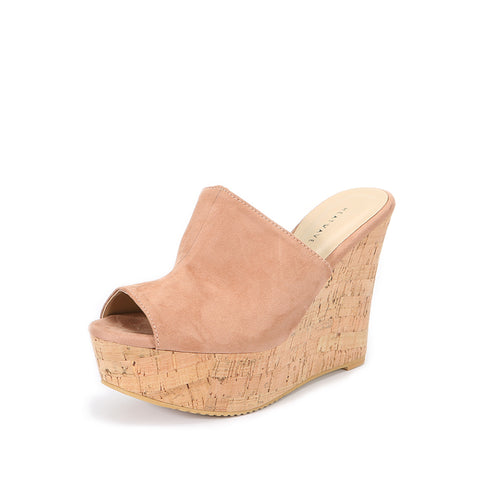 Adele Cork Wedges