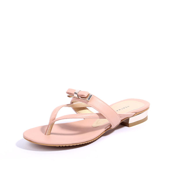 Slip-In Ribboned Sandals