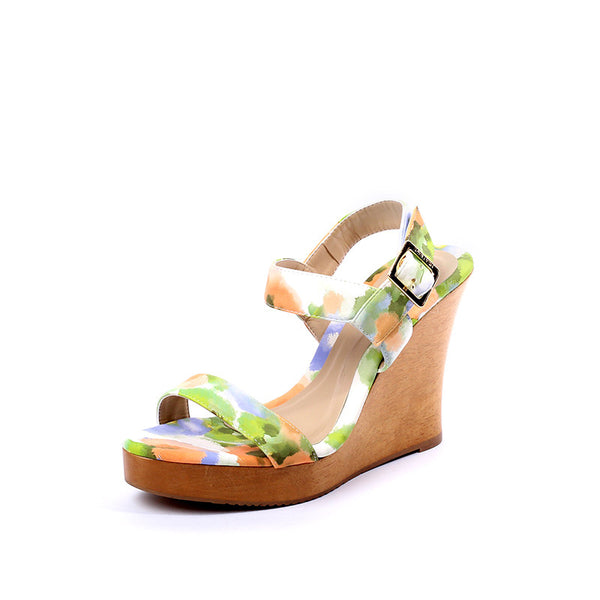 Floral Wood Wedges