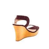Suede Wood Wedges