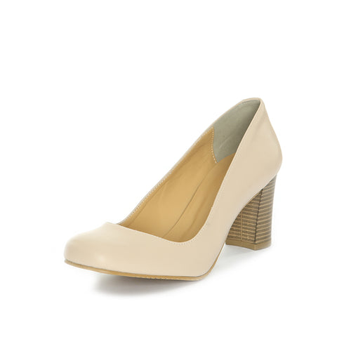 Hilary Stacked Heel