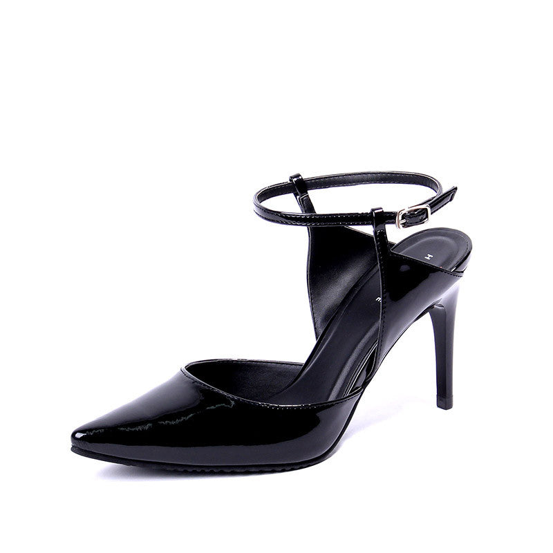 Ankle-Strap Patent Heels