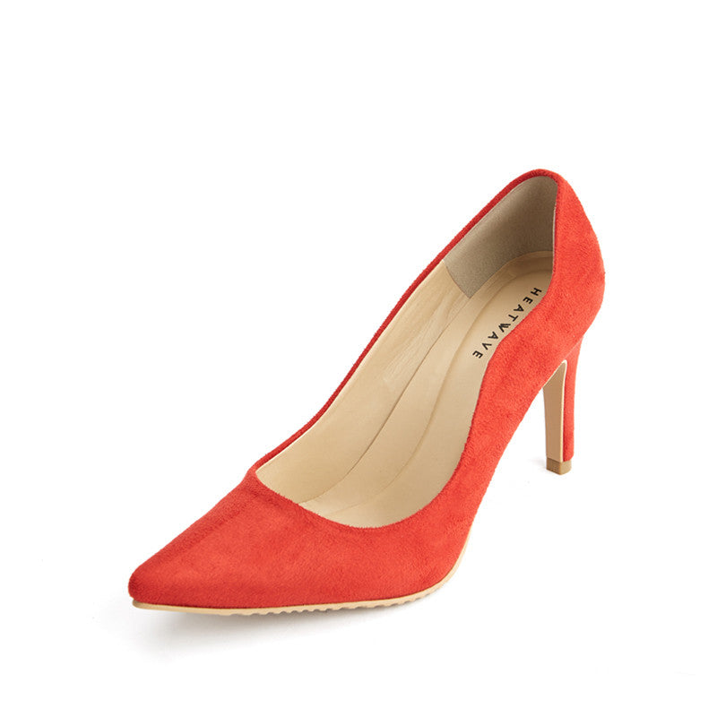 Suede Scalloped Pumps