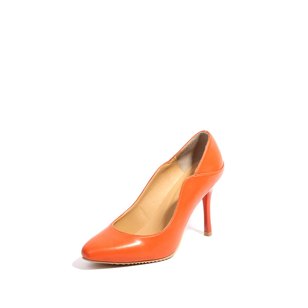Smooth Faux Leather Pump