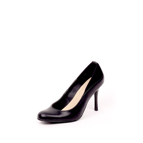 Almond Toe Pump-Black-4.5