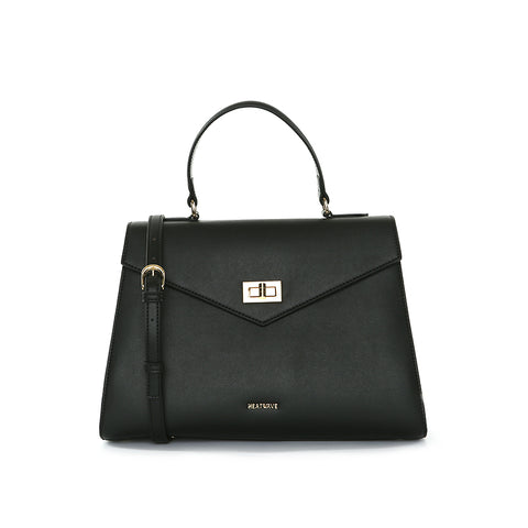 Colleen Turnlock Flap Bag